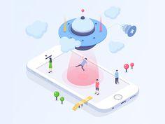 Create Team - Isometric Illustration