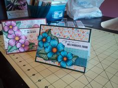 copic colored flowers