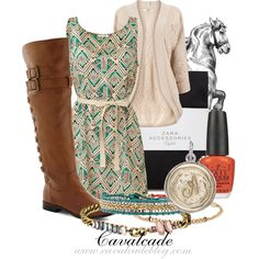Transitioning Summer into Fall With an Equestrian Flair by cavalcade, via Polyvore