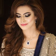 """Its #bridalseason in full swing straight into the New Year 🎉🎉!❤️ Stunning Irtiqa who has come to get dolled up numerous times came back again for a glamformation, and got smoky grey eyes, with a deep blue waterline, our #100wattskin and a soft pink lip ❤️💕here is what she had to say about the experience """"Amazing experience as always. Loved every bit of it.""""💕#bridaldiaries #natashasalon #cantgetenough #lovewhatwedo #happybrides #makeupmafia #hairmafia #makeupmagicians #makeupbyhina…"""