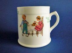Royal Doulton Nursery Rhymes 'L' Series 'Little Tommy Tucker' Child's Mug c1920