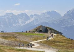 Hufton + Crow's photographs of Zaha's Messner Mountain Museum