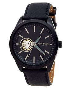 Rip Curl The Civilian Midnight Leather Automatic Watch Ocean And Earth, Always On Time, Surf Gear, Rip Curl, Automatic Watch, Stylish Outfits, Watches, Accessories, Clothing