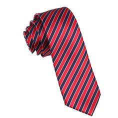 Mens Skinny Tie 6CM Maroon Navy Blue Stripes X148ST6 Ties by OTAA, $24.99
