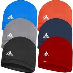 9cdea570581 Adidas 2015 ClimaHeat Lightweight Microfleece Crest Beanie Mens Golf Winter  Hat