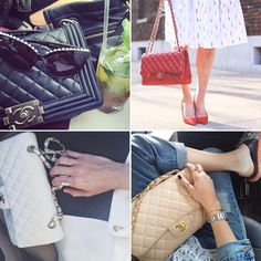 Pin for Later: Instagram Insight: You Know You're a Fashion Blogger If . . . You Tote Your Essentials in the Latest Chanel Source: Instagram users weworewhat, blaireadiebee, damselindior, chiaraferragni
