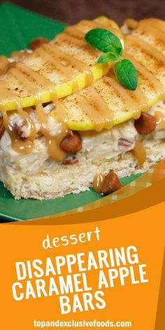 Disappearing Caramel Apple Bars – Quick Family Recipes