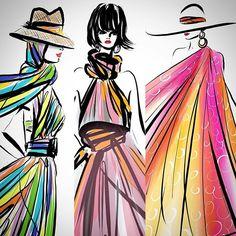 #fashionable #womenswear #travel around the #fashionworld #hollandherald #worldwide #fashiondesigners #beachwear #explore #inspirational #lifestyle let's #vogue #instagood #instafashion #instachic #sketch #illustration by #lindazoon