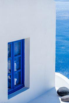 The blue window, Oia, Santorini