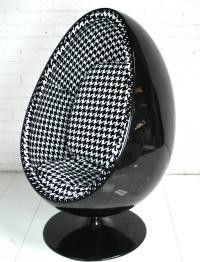 Pod Chair In Hounds Tooth