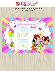 Lego Friends Birthday Invite By Ckfireboots On Etsy 10 00