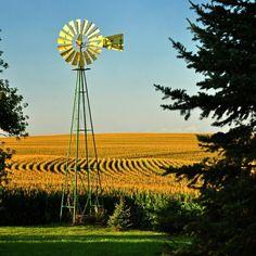 Rock Branch Farm, john deere green and yellow Looks Country, Country Farm, Country Life, Country Living, Country Roads, Farm Windmill, Old Windmills, Fotografia Macro, Country Scenes