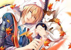 Yamanbagiri Kunihiro from Touken Ranbu Manga Cute, Manga Boy, Anime Boys, Touken Ranbu, Assassin, Carla Tsukinami, Samurai, Video Game Anime, Mini Canvas Art