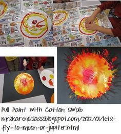 Outer space project - suns! Would work with little kids for sure.                                                                                                                                                                                 Mehr