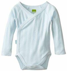 Amazon.com: Kushies Unisexbaby Newborn Everyday Mocha Layette Wrap Long Sleeve Bodysuit, Blue, 3 Months: Clothing