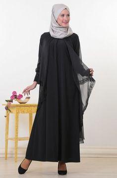 Vestido Nuevo Zincirli Ropa Negro Moda Diseño Noche Busra 2018 Musulmán Islámica RwpHXnq