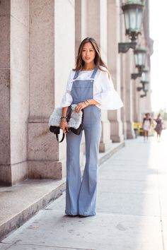 #overalls #flare #bell #sleeve #layers