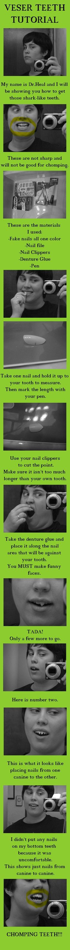 Cool idea, but I would probably find a way to keep it there without glueing it to my teeth