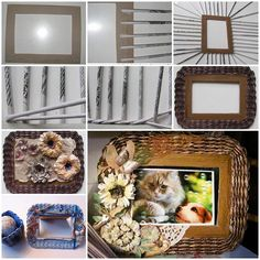 DIY Beautiful Woven Paper Photo Frame