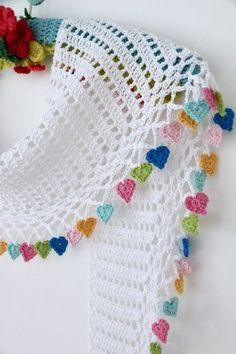 Cherry Heart crochet patterns to buy and to downlo…Latest Ideas For Crochet Designs Cherry Coronary heart crochet patterns to purchase and to obtain at no cost. Free Crochet Patterns to Decorate Your Home for the Holidays including stocking, orname Poncho Crochet, Mode Crochet, Tunisian Crochet, Crochet Scarves, Crochet Motif, Crochet Flowers, Crochet Heart Blanket, Crochet Crafts, Easy Crochet