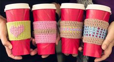 How to crochet with wink - -part-three - crochet in the round,, changing colour, make a cup cosy, free, thanks so xox
