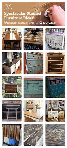 DIY #20 Spectacular Stained Furniture Tutorials!  Excellent Post!