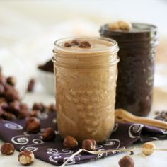 Natural and Dark Chocolate Hazelnut Butter - Leap - Nutella Hazelnut Recipes, Hazelnut Butter, Nutella Recipes, Chocolate Butter, Cocoa Butter, Yummy Food, Tasty, Butter Recipe, Dessert Recipes