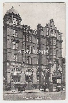 Union Jack Club - Waterloo Road Lambeth (bombed in 1907 postcard London Vintage London, Old London, London View, Uk History, London History, Union Jack Club, Waterloo Road, Waterloo Station, Elephant And Castle