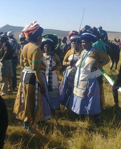 Horse Race day in the Transkei, Eastern Cape, South Africa. Xhosa women in their best hats