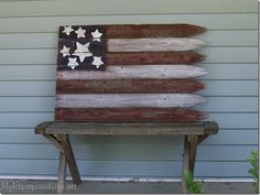 american flag - Easy Peasy 4th of July Flag from Old Fencing