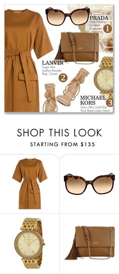 """""""Accessories"""" by jomashop ❤ liked on Polyvore featuring MSGM, Prada, Lanvin, ALDO and brown"""