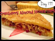 Cranberry Almond Honey Tart  Recipe [DAY 199] ★https://www.youtube.com/watch?v=57CCaVFZbyg&index=37&list=PLGRnDhMJALhH_GXl20Kx5lraCMUd2ltq1 ★  I'm trying A NEW RECIPE OF Laura in the Kitchen EVERY DAY and sharing its conversion into the metric system, come and join me on my yummy challenge! :)