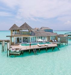 Overwater bungalows and overwater villas are THE ultimate Maldives experience. When searching for a perfect bungalow I stumbled upon Soneva Jani. I was love at / Vacation - Travel Vacation Places, Vacation Destinations, Vacation Trips, Dream Vacations, Vacation Spots, Italy Vacation, Vacation Travel, Maldives Villas, Maldives Resort