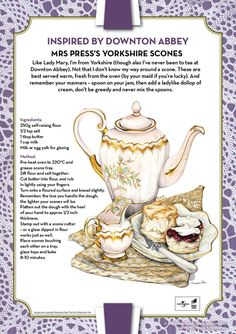 Mrs Press's Yorkshire Scones & other Downton Abbey inspired recipes....
