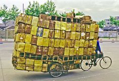 Bicycle Trucking in Shanghai
