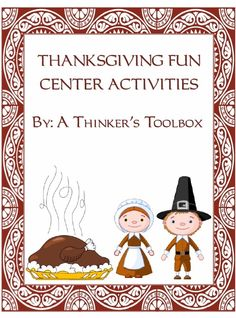 Thanksgiving Fun Center Activities by A Thinker's Toolbox
