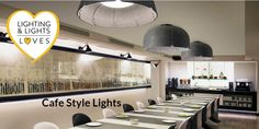 Clever use of the right lights and light fittings will create the perfect atmosphere for visitors to your cafe. Buy from Lighting and Lights Cafe Lighting, Kitchen Lighting, Lighting Design, Pendant Lighting, Cafe Style, Hanging Pendants, Light Fittings, Cool Designs, Lights