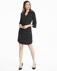 Soft Printed Shirt Dress #whbm
