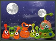 Crochet - The Spacies from another planet *** crochet pattern - a designer piece of KristinasArt on DaWanda
