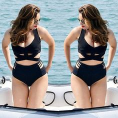 Women High Waist Sexy Bikini Set Lady Push-up Padded Beach Swimsuit Plus Size