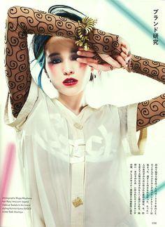 """Japan magazine """"SOEN"""" 2013. Designer/ Keisuke Kanda. Model/ Saki Asamiya."""