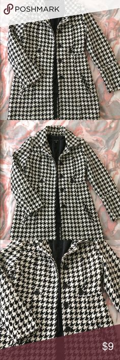 Girls houndstooth peacoat Girls XL 14/16 houndstooth peacoat. Also fits ladies size small. Good condition, worn a handful of times. Smoke/pet free home. George Jackets & Coats Pea Coats