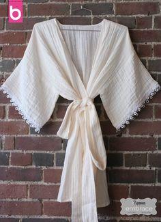Easy Embrace Kimono sewing tutorial by Martha Stewart and BurdaStyle
