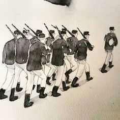 French Soldiers - Soldats français   #soldier #soldat #french #annecy #artshow #aquarelle #watercolor #art #tagsforlikes #instaartist #instagood #instadaily #insta #sketch #drawing #myart #gallery #old #creative #croquis