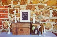 DIY chalkboard for the wedding - Can you sense a theme?