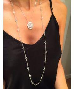 colar tiffany inspired e pingente cristal semi joias