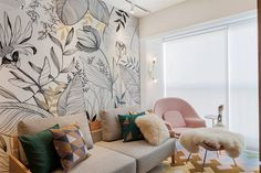 Wallpapers are increasingly the protagonist of decoration and interior design. Home Interior, Interior Architecture, Interior Design, Interiores Art Deco, Wall Design, House Design, Wall Painting Decor, Casamance, Creative Walls