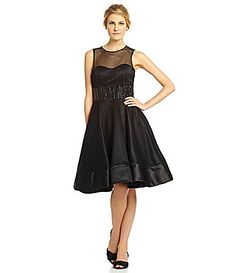 Mac Duggal Beaded MeshOverlay Dress #Dillards
