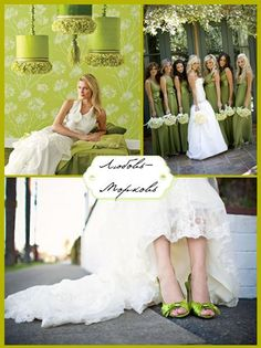 Chartreuse wedding - love the colors