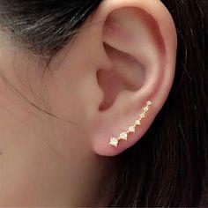 2016  New 1Pair Fashion Rhinestone Crystal Earrings Gold Sliver Ear Hook Stud Jewelry Freeshipping&Wholesale